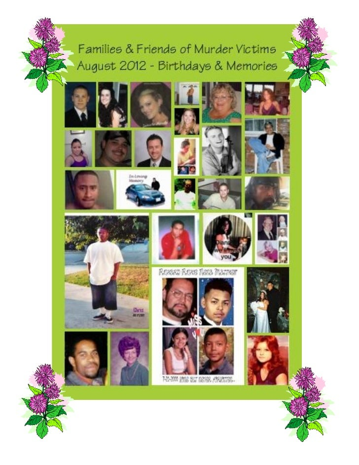 FAMILIES & FRIENDS OF                                       Families & Friends of Murder Victims:   MURDER VICTIMS, Inc.  ...