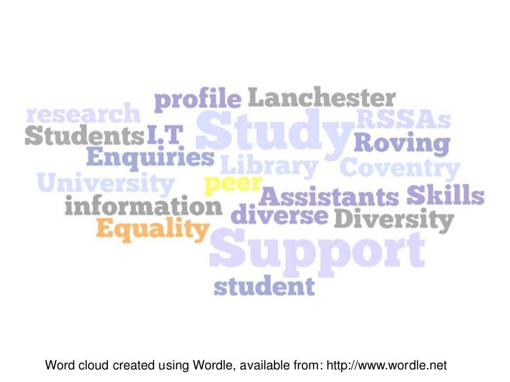 Word cloud created using Wordle, available from: http://www.wordle.net