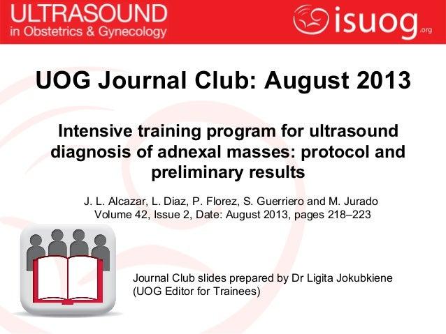 UOG Journal Club: Intensive training program for ultrasound diagnosis of adnexal masses