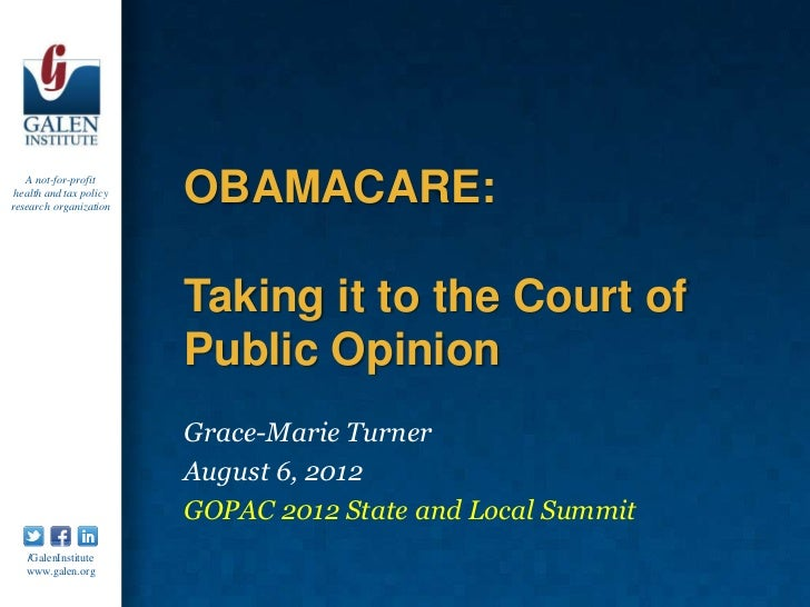 A not-for-profit health and tax policyresearch organization                         OBAMACARE:                         Tak...