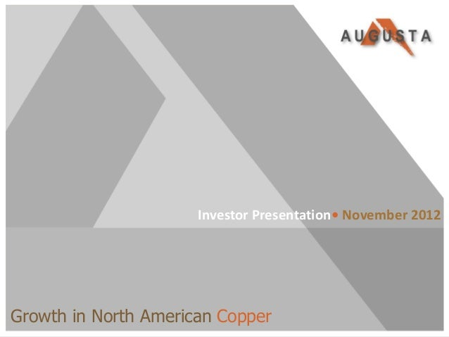 Investor Presentation• November 2012Growth in North American CopperTSX/NYSE MKT:AZC