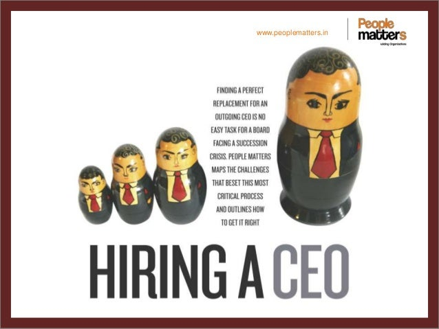 August cover story-Hiring A CEO