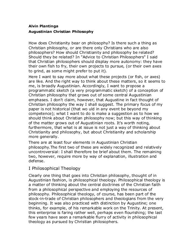Augustinian christian philosophy