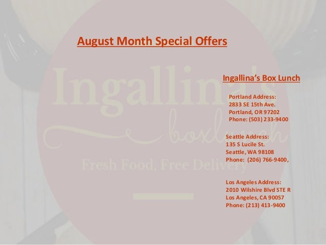 Ingallina's discount coupons