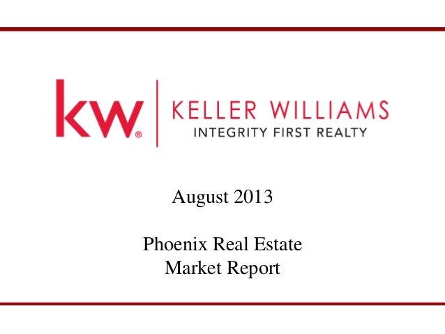 August Phoenix Real Estate Market Report
