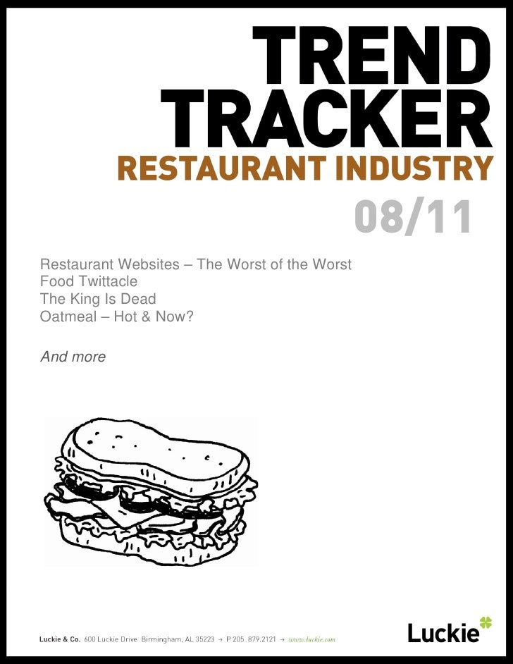 August 2011 Restaurant Trend Tracker