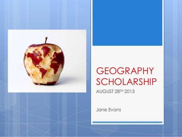 AU Geography Scholarship August 2013