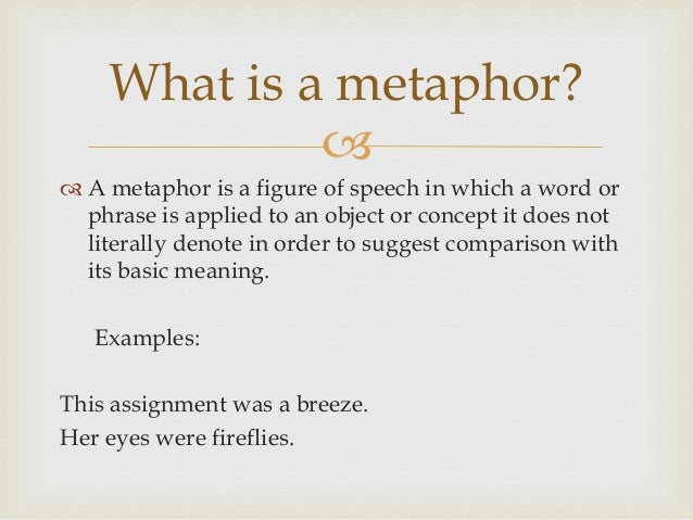 How to go about writing a metaphor?