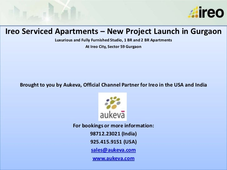 Ireo Serviced Apartments – New Project Launch in Gurgaon                 Luxurious and Fully Furnished Studio, 1 BR and 2 ...