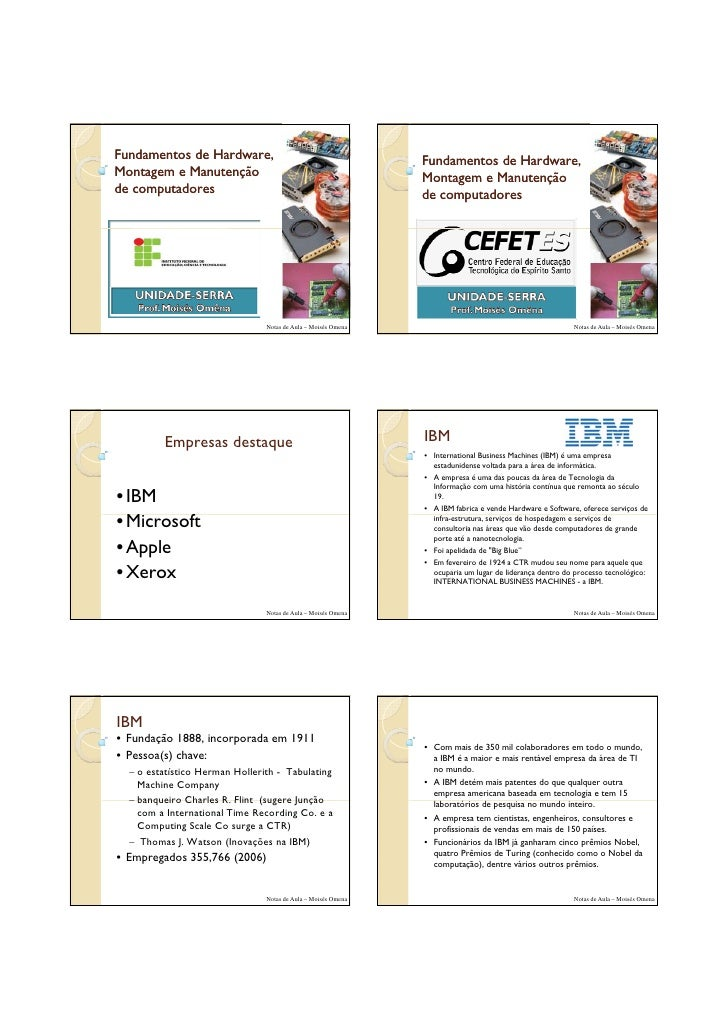 01/09/2010     Fundamentos de Hardware,                                       Fundamentos de Hardware, Montagem e Manutenç...