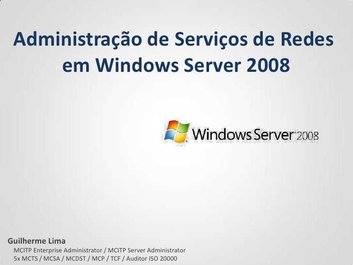 Configurando as ferramentas do Windows Server 2008
