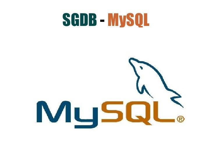 SGDB - MySQL