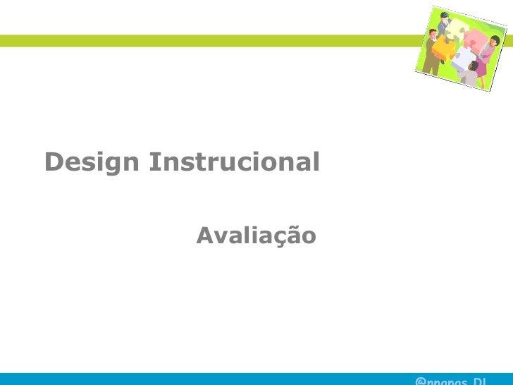 Design Instrucional Avaliação
