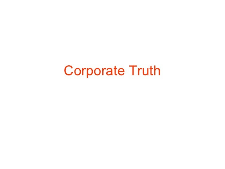 Corporate Truth