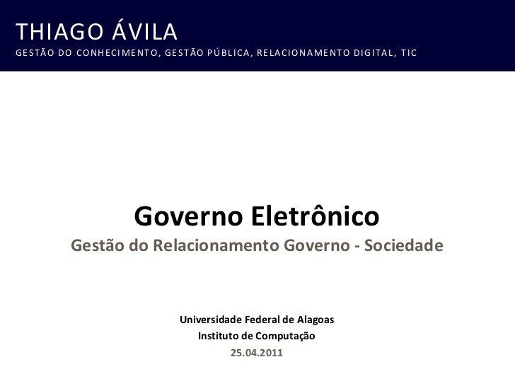 Governo Eletrônico e Gestão do Relacionamento com o Cidadão