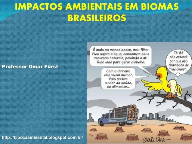 IMPACTOS AMBIENTAIS EM BIOMAS BRASILEIROS Professor Omar Fürst http://bibocaambiental.blogspot.com.br/