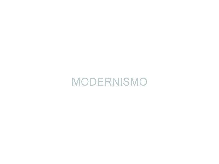 Aula sobre Modernismo