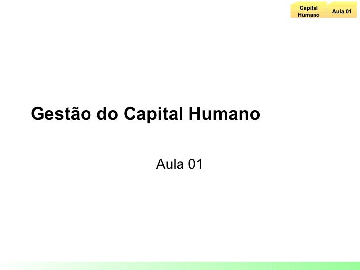 Aula 01 Capital Humano