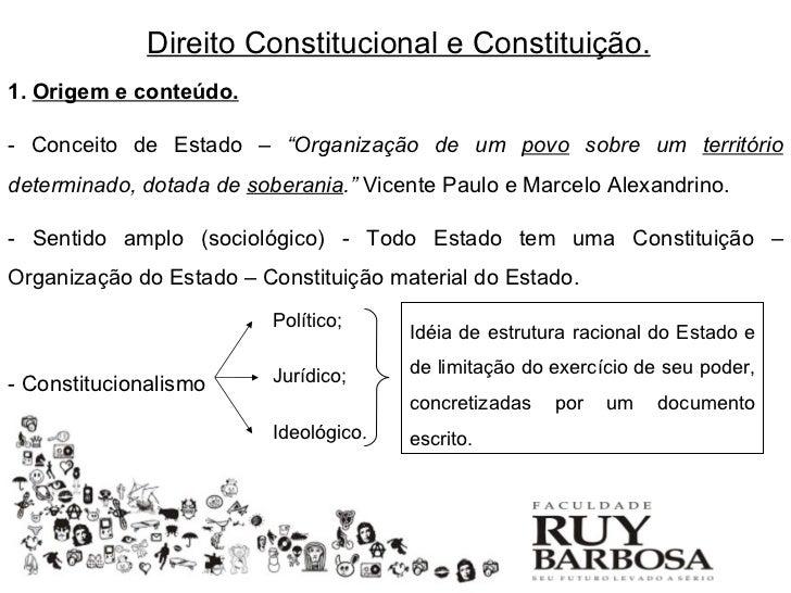 """Direito Constitucional e Constituição.1. Origem e conteúdo.- Conceito de Estado – """"Organização de um povo sobre um territó..."""