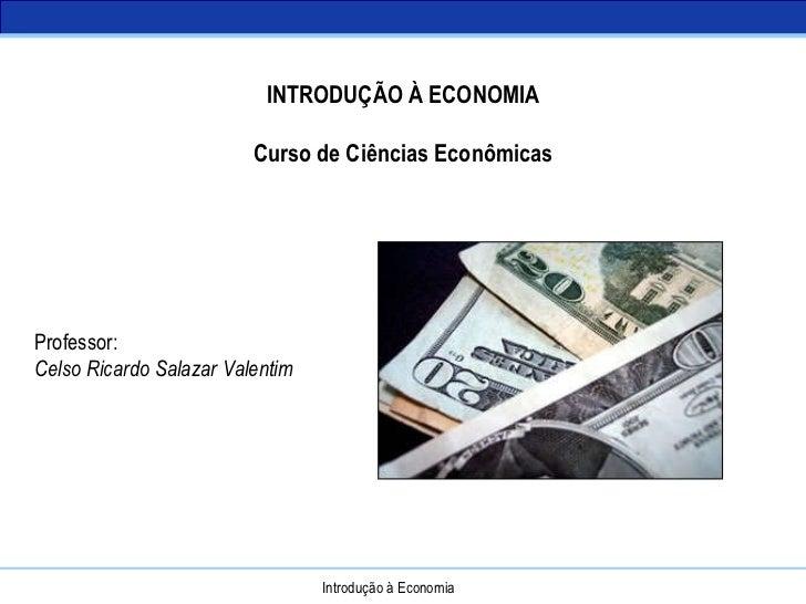 Introdução à Economia - Conceitos
