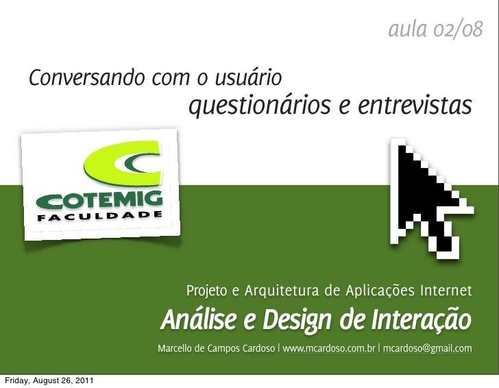 Análise e Design de Interação / Marcello Cardoso                                                                          ...