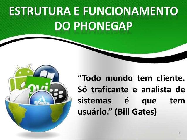 """""""Todo mundo tem cliente.  Só traficante e analista de  sistemas é que tem  usuário."""" (Bill Gates)  1  ESTRUTURA E FUNCIONA..."""
