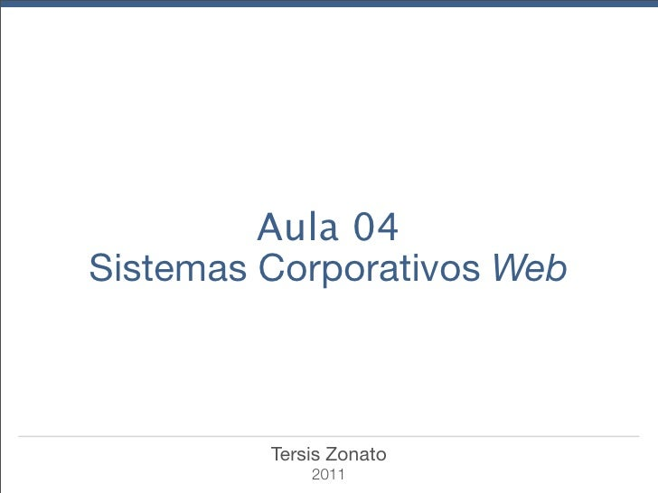 Sistemas Corporativos Web - WordPress Aula04