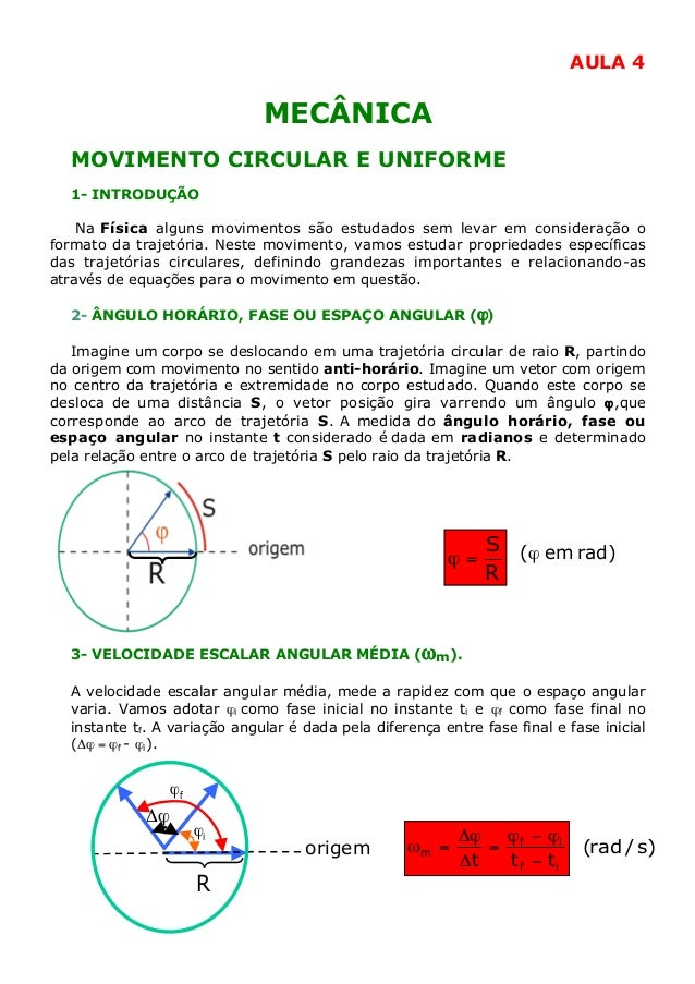04 Mecânica - Movimento Circular Uniforme