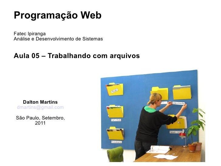 <ul>Programação Web <li>Fatec Ipiranga