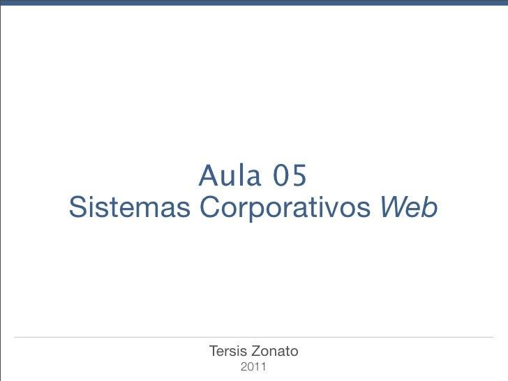 Aula 05Sistemas Corporativos Web         Tersis Zonato             2011