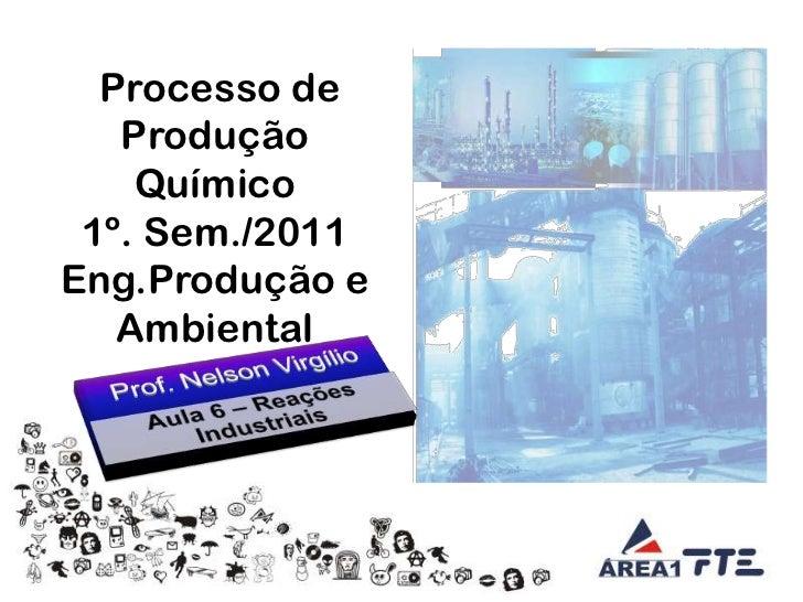Processo de Produção Químico<br />1º. Sem./2011<br />Eng.Produção e Ambiental<br />