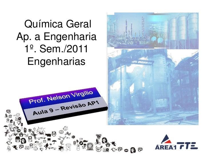 Química GeralAp. a Engenharia 1º. Sem./2011  Engenharias