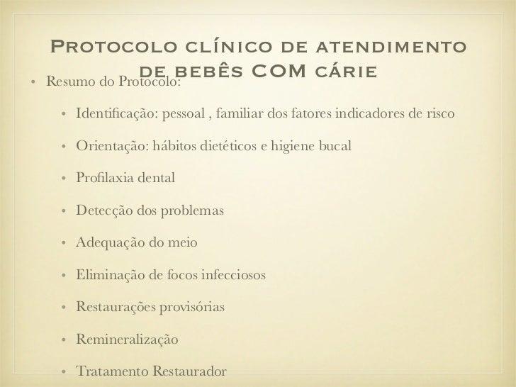 Protocolo Clinico de Atendimento de Bebes
