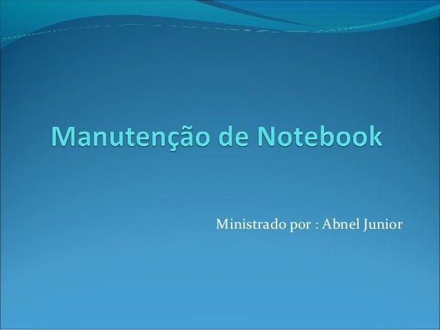 Manutenção de Notebook - 01