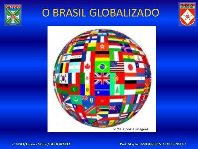 O BRASIL GLOBALIZADO                                Fonte: Google Imagens2º ANO/Ensino Médio/GEOGRAFIA       Prof: Maj Art...