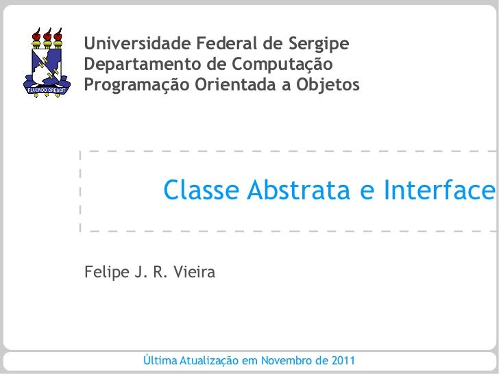 POO - Aula 13 - Classe Abstrata e Interface