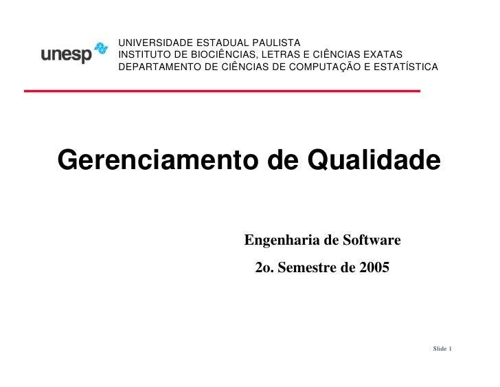 UNIVERSIDADE ESTADUAL PAULISTA     INSTITUTO DE BIOCIÊNCIAS, LETRAS E CIÊNCIAS EXATAS     DEPARTAMENTO DE CIÊNCIAS DE COMP...