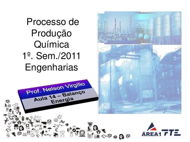 Processo de  Produção   Química1º. Sem./2011 Engenharias