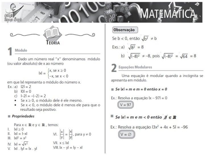 Aula 14 a 15 - Matemática