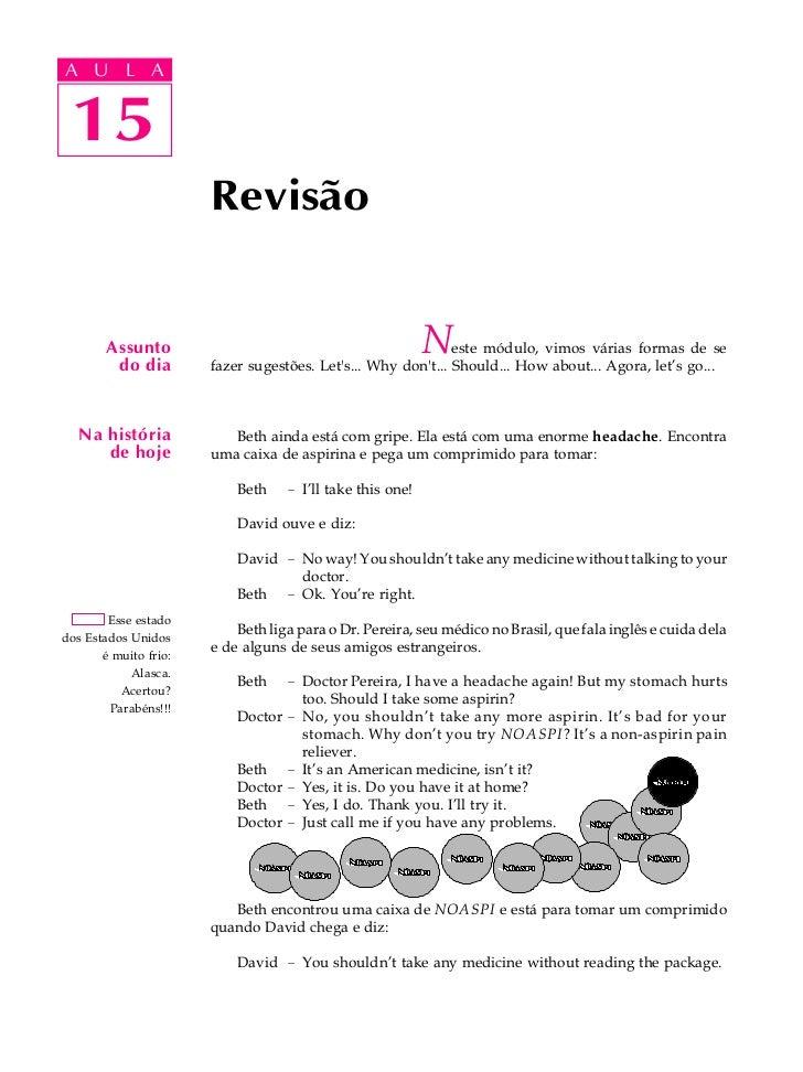 A UA U L A     L A        15 15                       Revisão        Assunto         do dia                               ...