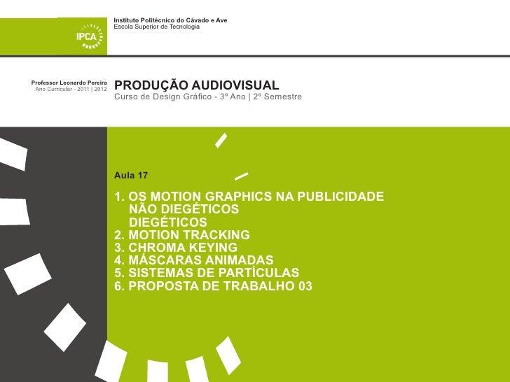 Os Motion Graphics Diegéticos e Não Diegéticos em filmes publicitários