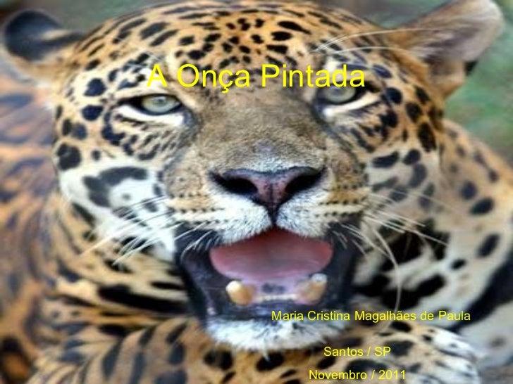 A Onça Pintada Maria Cristina Magalhães de Paula Santos / SP Novembro / 2011