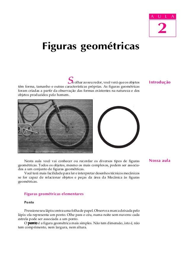 A U L A  2  Figuras geométricas  U L A  2  Se olhar ao seu redor, você verá que os objetos Introdução  têm forma, tamanho ...