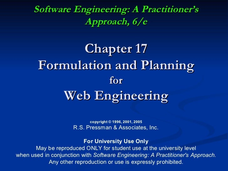 Aula 2 -  Planning for Web Engineering by Roger Pressman