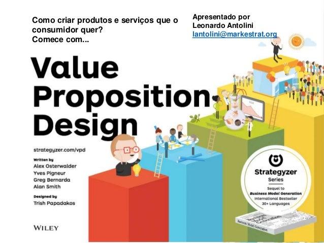 Como criar produtos e serviços que o consumidor quer? Comece com... Apresentado por Leonardo Antolini lantolini@markestrat...