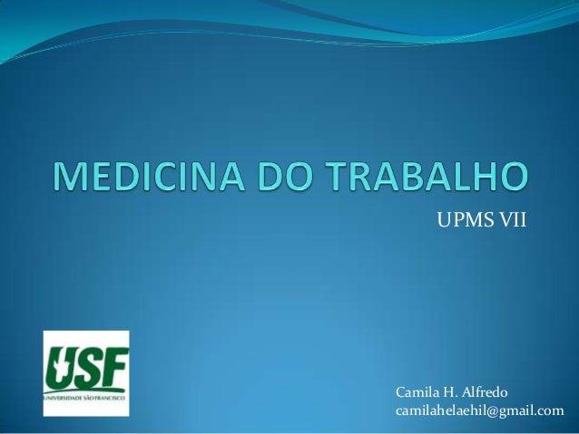 UPMS VIICamila H. Alfredocamilahelaehil@gmail.com