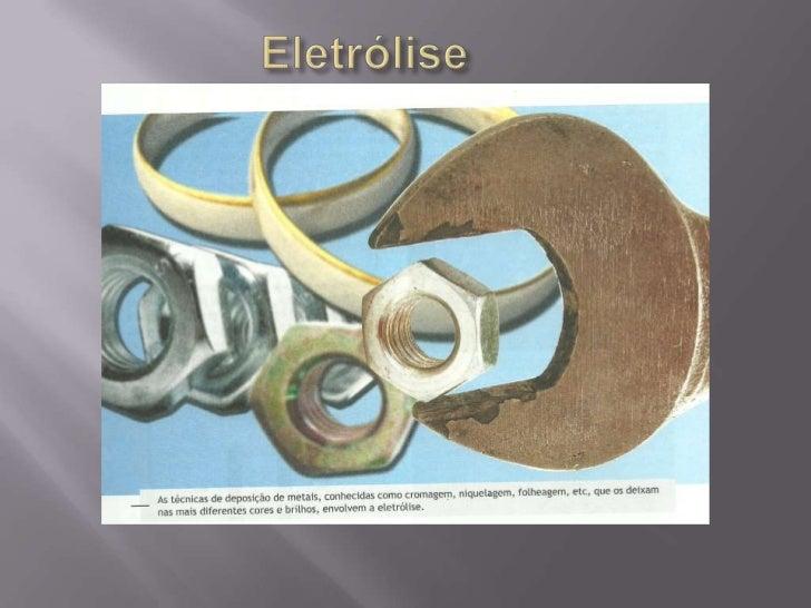 Eletrólise<br />