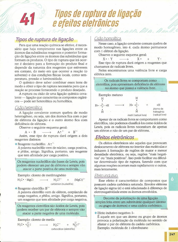 Cisões de Ligações Químicas