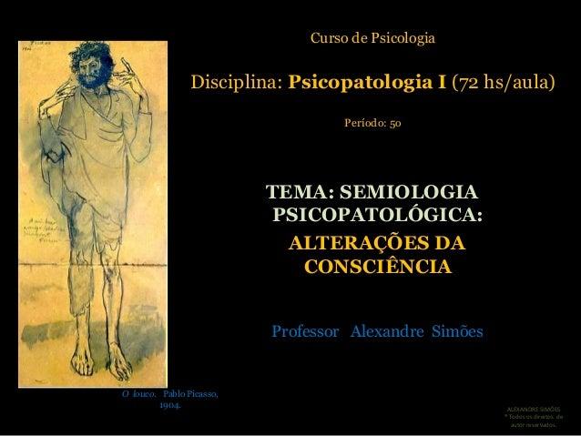 FUNEDI/UEMG                              Curso de Psicologia                Disciplina: Psicopatologia I (72 hs/aula)     ...