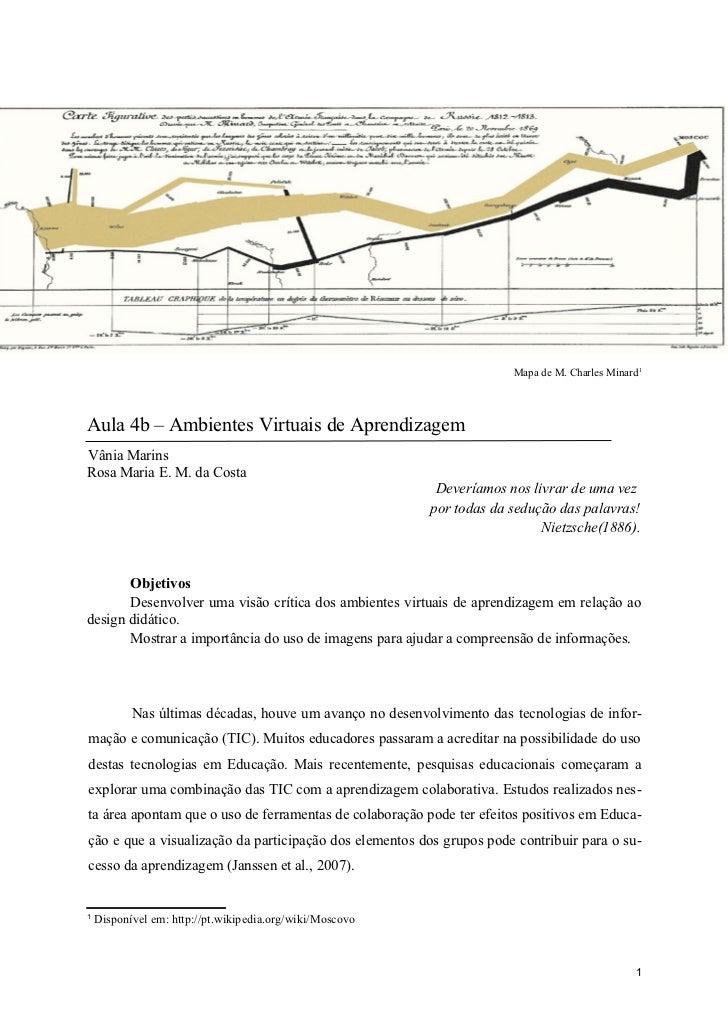 Mapa de M. Charles Minard1Aula 4b – Ambientes Virtuais de AprendizagemVânia MarinsRosa Maria E. M. da Costa               ...